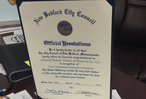 Places To Go Recognized by New Bedford City Council